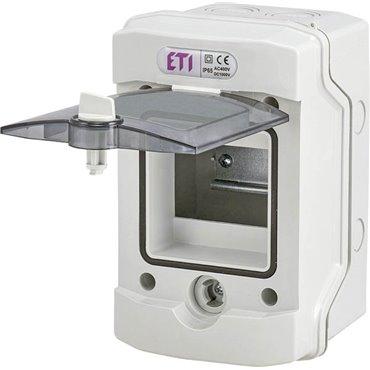 Rozdzielnica modułowa 1x4 natynkowa /transparentna/ IP65 ECH-4G DIDO 001101060