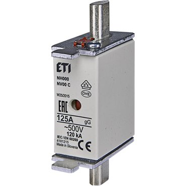 Wkładka bezpiecznikowa KOMBI NH00 125A gG/gL 500V WT-00 004182215