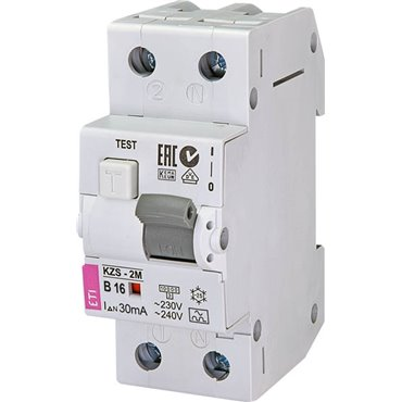 Wyłącznik różnicowo-nadprądowy 2P 16A B 0,03A typ A KZS-2M 002173204