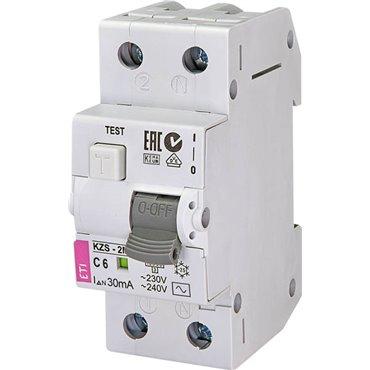Wyłącznik różnicowo-nadprądowy 2P 6A C 0,03A typ AC KZS-2M 002173121