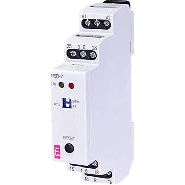 Termostat modułowy analogowy 1P 8A 24-230V AC/DC IP40 TER-7 002471804