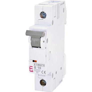 Wyłącznik nadprądowy 1P B 10A 6kA AC ETIMAT 6 002111514