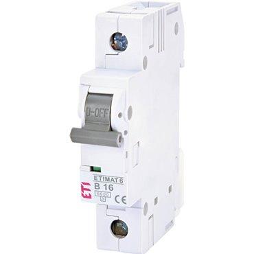 Wyłącznik nadprądowy 1P B 16A 6kA AC ETIMAT 6 002111516