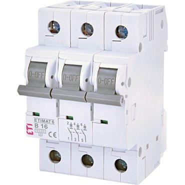 Wyłącznik nadprądowy 3P B 16A 6kA AC ETIMAT 6 002115516