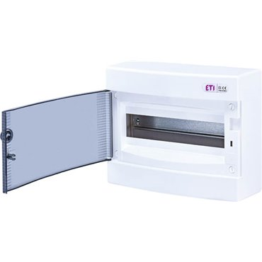 Rozdzielnica modułowa 1x12 natynkowa /transparentna/ IP40 ECT12PT DIDO 001101001