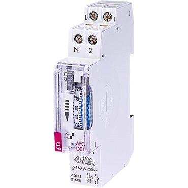 Programator czasowy analogowy 1P 16A 230V AC dobowy z rezerwą min. 100h APC-DR1 002472002