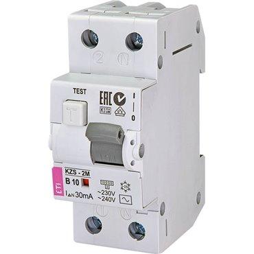 Wyłącznik różnicowo-nadprądowy 2P 10A B 0,03A typ AC KZS-2M 002173102