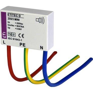 Ogranicznik przepięć D (kapsułka do puszki) 255V ETITEC D2 255/3 MINI 002441632