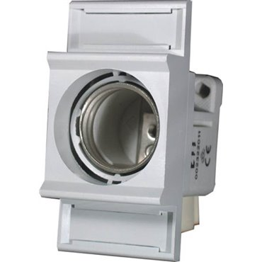 Gniazdo bezpiecznikowe na szynę TH35 E27 DII 25A 500V EZN 25-ZP 002322016