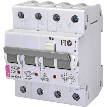 Wyłącznik różnicowo-nadprądowy 4P 20A C 0,03A typ AC KZS-4M 002174025