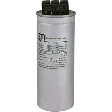 Kondensator trójfazowy CP LPC 10 kVAr 400V 50Hz 004656750