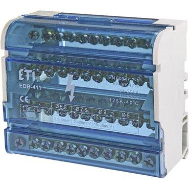 Blok rozdzielczy 125A 4P 11-zaciskowy EDB-411 001102304