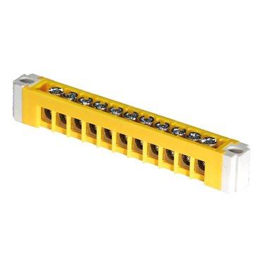 Listwa PE 11-modułowa żółta ERP-PE1 /do rozdzielnic ERP/ 001101283