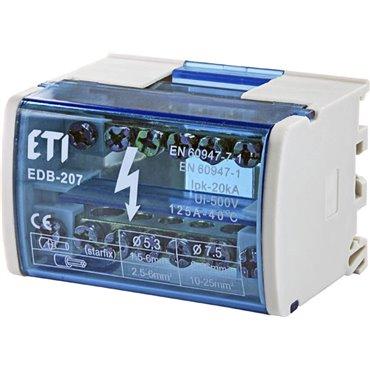 Blok rozdzielczy 125A 2P 7-zaciskowy EDB-207 001102300