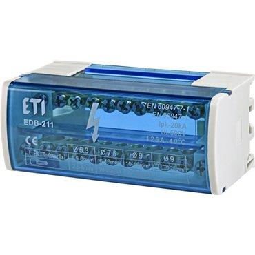 Blok rozdzielczy 125A 2P 11-zaciskowy EDB-211 001102301