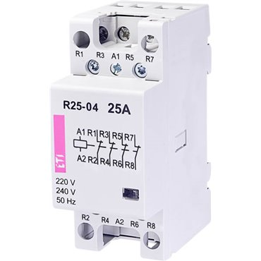 Stycznik modułowy 25A 230V 4Z 0R R 25-04 230V 002462350