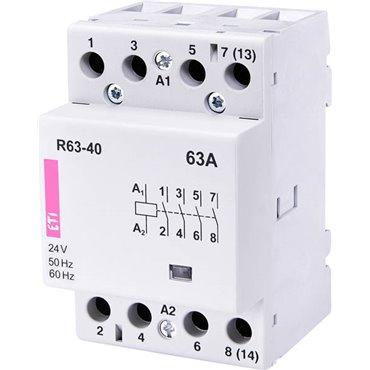 Stycznik modułowy 63A 24V AC 4Z 0R R 63-40 24V 002463451