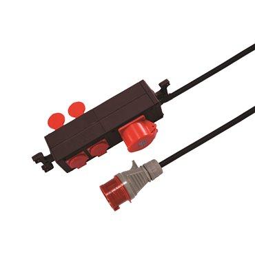 Przedłużacz warsztatowy 4-gniazda z/u + 16A/5P/400V 1,5m /H07RN-F 3x1,5/ PWG-11113-1,5