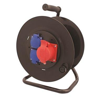 Przedłużacz bębnowy STRONG 20m H05RR-F 5x1,5 IP44 2xGS + 1x16A/5P SPZ1-12-1,5-20G