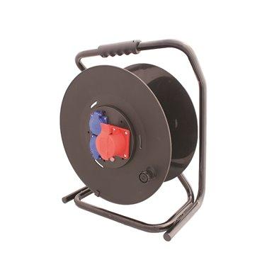 Przedłużacz bębnowy STRONG 50m H05RR-F 5x1,5 IP44 2xGS + 1x16A/5P SPZD1-12-1,5-50G