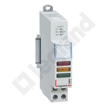 Lampka modułowa 3xLED czerwona/żółta/zielona 230/400V L435 412934