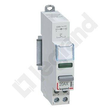 Łącznik modułowy bistabilny z lampką LED 1Z 20A 12/48V AC/DC LP441 412912