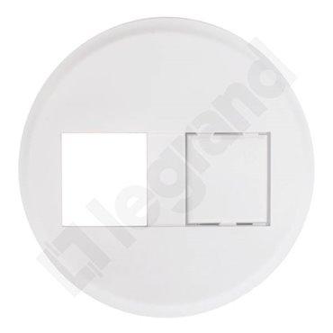 CELIANE Plakietka osłonowa gniazda komputerowego RJ45 biała 067357