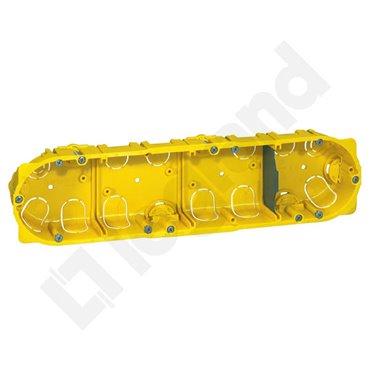 BATIBOX Puszka poczwórna przelotowa do karton-gipsu fi67x40mm 080044