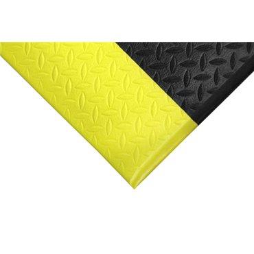Mata antyzmęczeniowa Orthomat Diamond SafetyCzarna/Żółte krawędzie 0.9m x 1.5m
