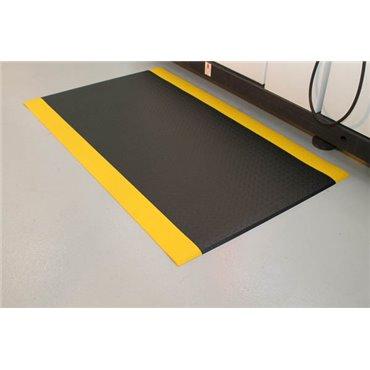 Mata antyzmęczeniowa Orthomat Diamond Safety Czarna/Żółte krawędzie 1.2m x mb.