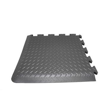 Modułowa mata antyzmęczeniowaDeckplate Connect Czarna - 0.5m x 0.5m - narożnik