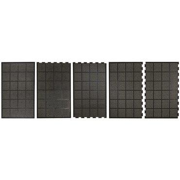 Mata antypoślizgowa olejoodporna High-Duty Czarna 0.9m x 1.5m - moduł boczny (2 kr./1 dł.)