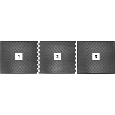 Mata antypoślizgowa olejoodporna Comfort-Lok Czarna 0.7m x 0.8m - moduł środkowy