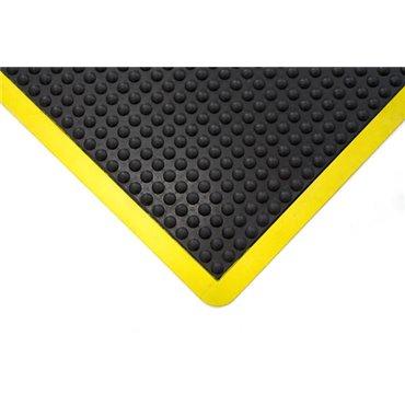 Mata antyzmęczeniowa Bubblemat  Czarna/Żółte krawędzie 0.9m x 1.2m - moduł boczny