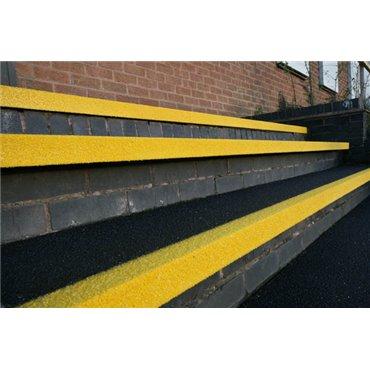 Antypoślizgowa nakładka na schody GRP COBAGRiP Czarno/Żółta 1.5m x 345mm x 55mm