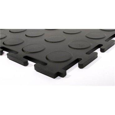 Płytka podłogowa PCV Tough-Lock ECO Czarna 0.5m x 0.5m (5mm) - zestaw 4 sztuk