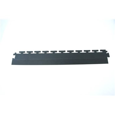 Płytka podłogowa PCV Tough-Lock ECO Czarna 0.5m (5mm) - zestaw 4 sztuk - Krawędź