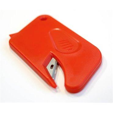 Nóż bezpieczny Dispo Mini - Czerwony (zestaw 50 sztuk)