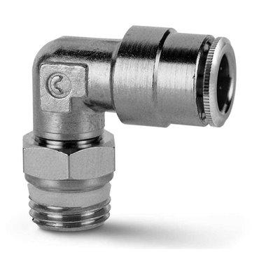 Szybkozłącze wtykowe kątowe S6520, przewód 4mm, gwint 1/4