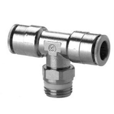 Szybkozłącze wtykowe, trójnik T S6430, przewód 10mm, gwint 1/2