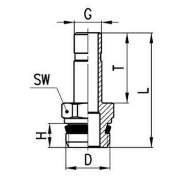 Szybkozłącze wtykowe męskie 6811, przewód 5mm, gwint 1/8