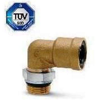 Szybkozłącze wtykowe kątowe C-TRUCK 9502, przewód 6/4mm, gwint M10x1,0