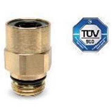 Szybkozłącze wtykowe proste C-TRUCK 9512, przewód 6/4mm, gwint M12x1,5