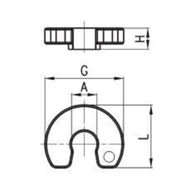 Pierścień odpinający przewody DRK, przewód 8mm