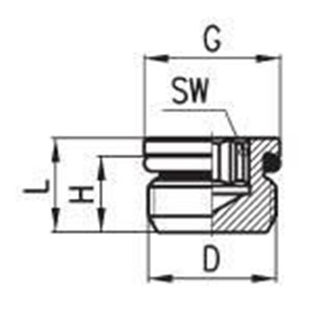 Korek zaślepiający C-TRUCK D2612, gwint M22x1,5