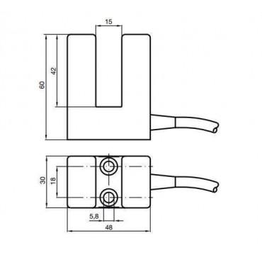 Indukcyjne czujniki zbliżeniowe - model Slot Type
