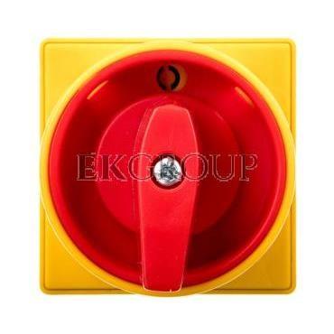 Łącznik krzywkowy 0-1 3P 16A do wbudowania  z pokrętłem żółto/czerwonym blokowany kłódką GX1610U25-87928
