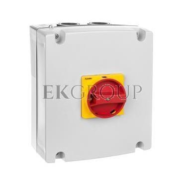 Obudowa do rozłączników GA063SA, GA063A-GA100A i GA080D, żółto/czerwone pokrętło GAZ2-86201