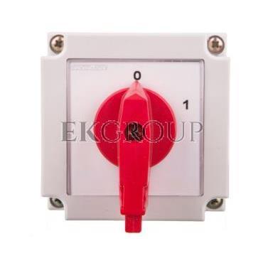Łącznik krzywkowy 0-1 4P 10A w obudowie / blokada/ 4G10-92-PK S6-88428