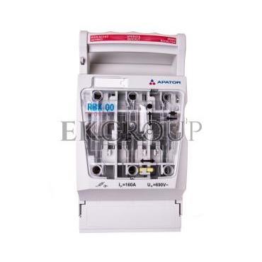 Rozłącznik izolacyjny bezpiecznikowy 160A RBK 00 pro-SG-M /zaciski śrubowe M8 do 70mm2/ 63-823259-121-89382